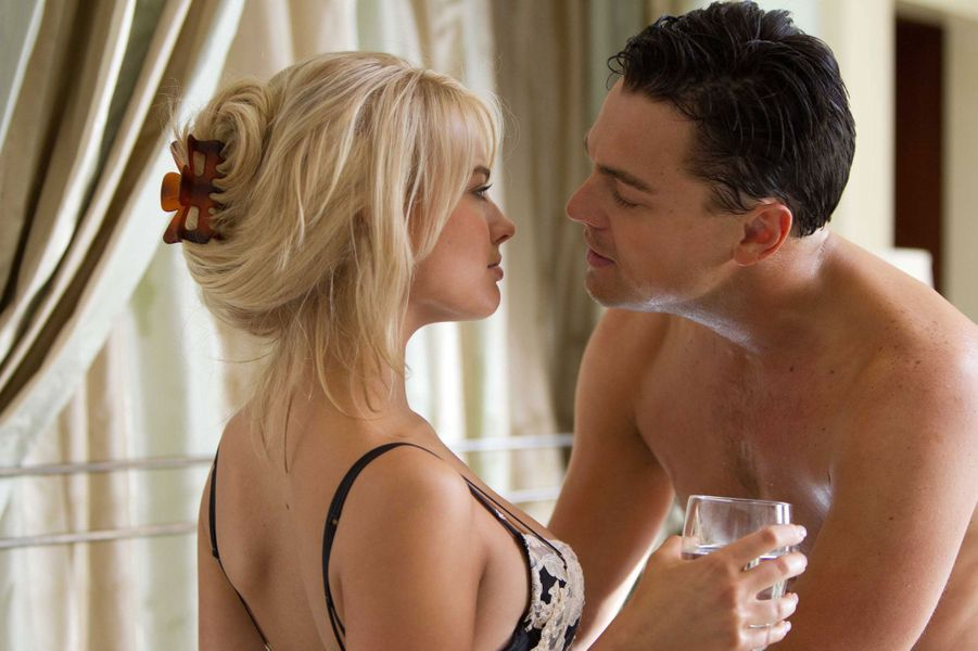 Margot Robbie et Leonardo DiCaprio dans Le Loup de Wall Street