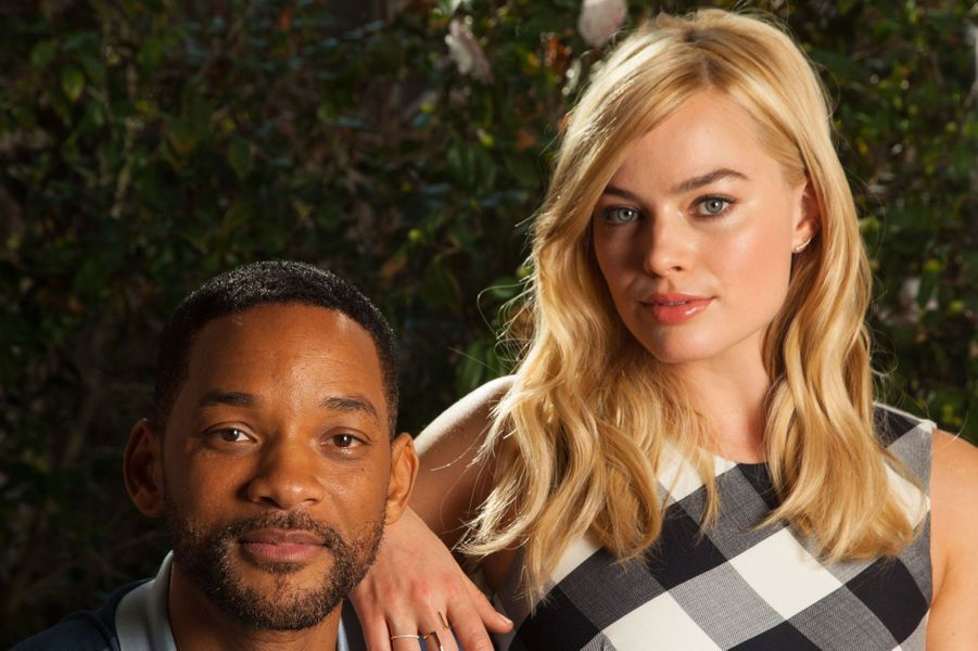 Margot Robbie et Will Smith dans Focus