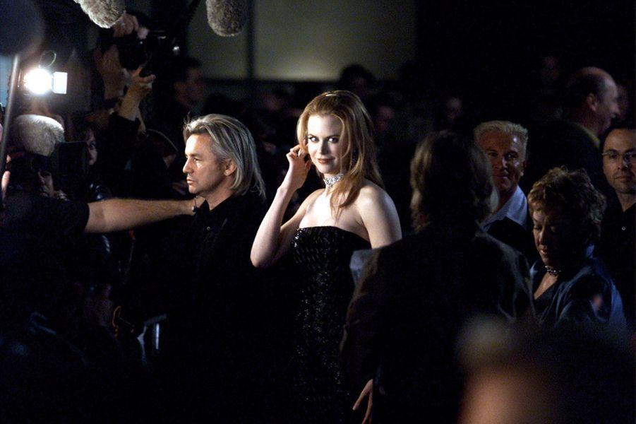 """Nicole Kidman sur le tournage du film """"Moulin Rouge"""", en 2001."""