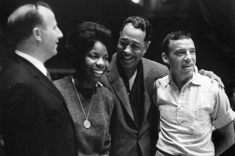 Nina Simone avec Duke Ellington en 1962