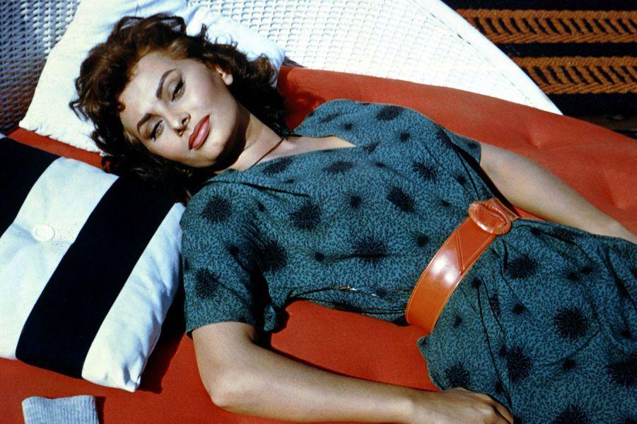 Sophia Loren, sous le soleil.