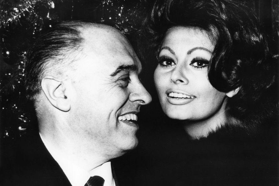 Sophia Loren et son mari Carlo Ponti.