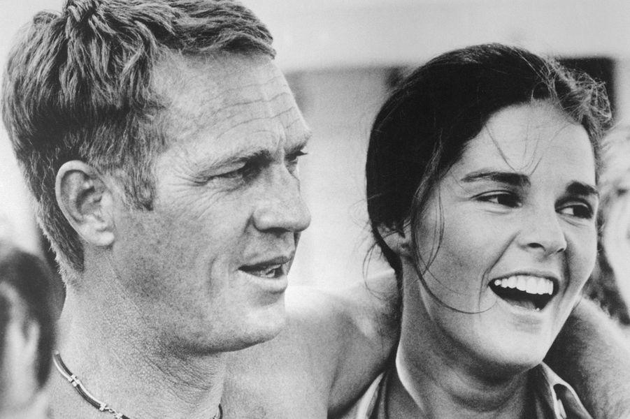 Steve McQueen et Ali McGraw en 1972.
