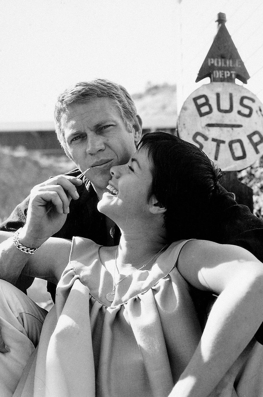 Steve McQueen et sa femme Neile Adams, 1960.