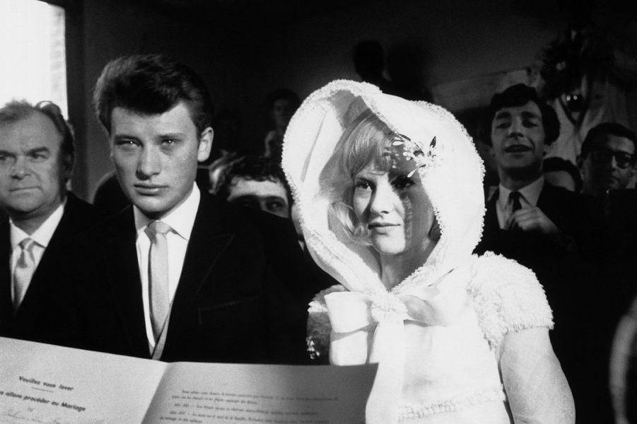 Sylvie Vartan et Johnny Hallyday en 1965