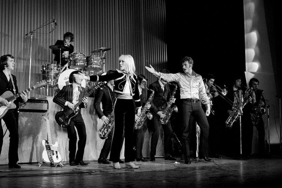 Sylvie Vartan et Johnny Hallyday en 1967