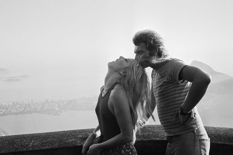 Sylvie Vartan et Johnny Hallyday en 1973