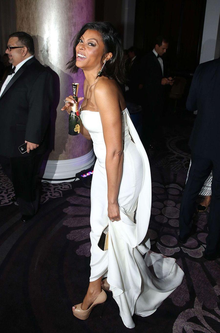 Taraji P. Henson lors de la cérémonie des Golden Globes 2016.