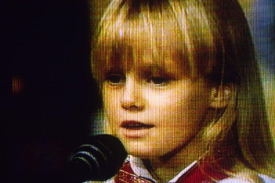 Vanessa Paradis dans l'école des fans, le 3 mai 1981.