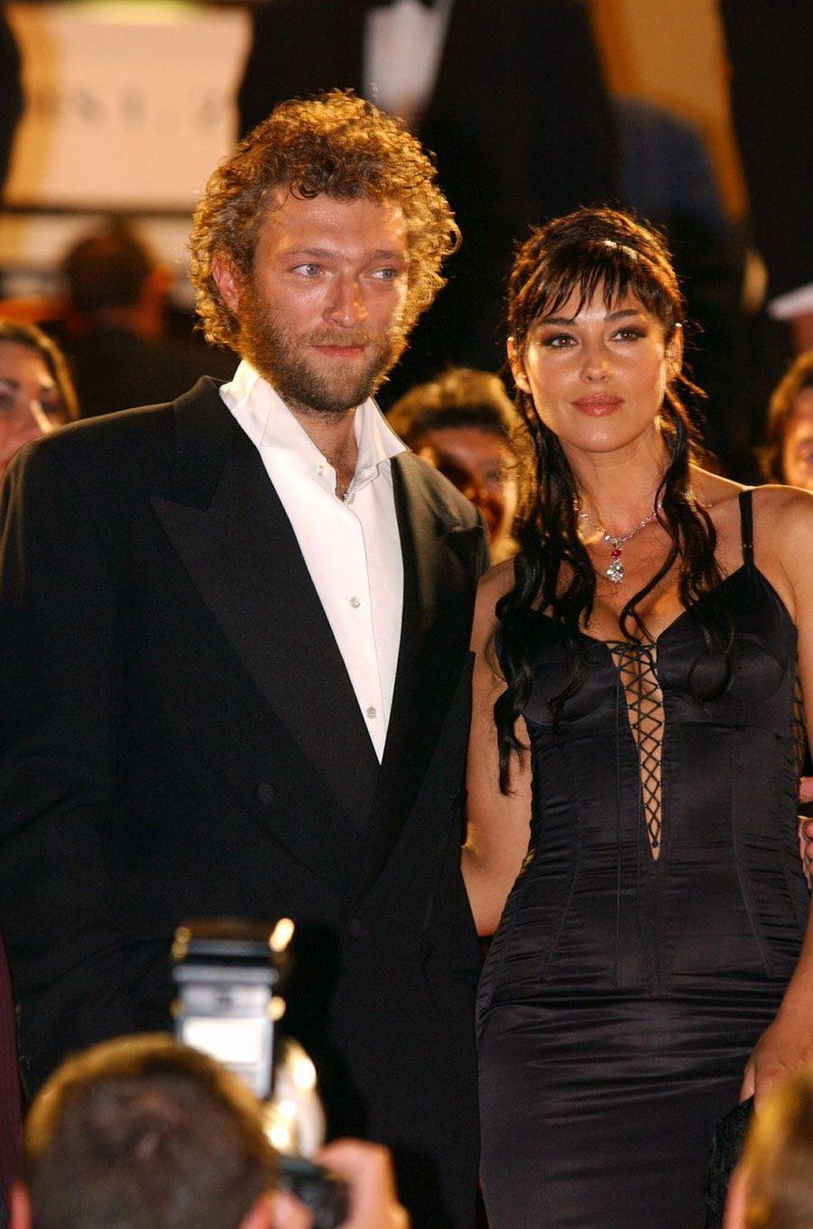 Vincent Cassel et Monica Bellucci en 2002
