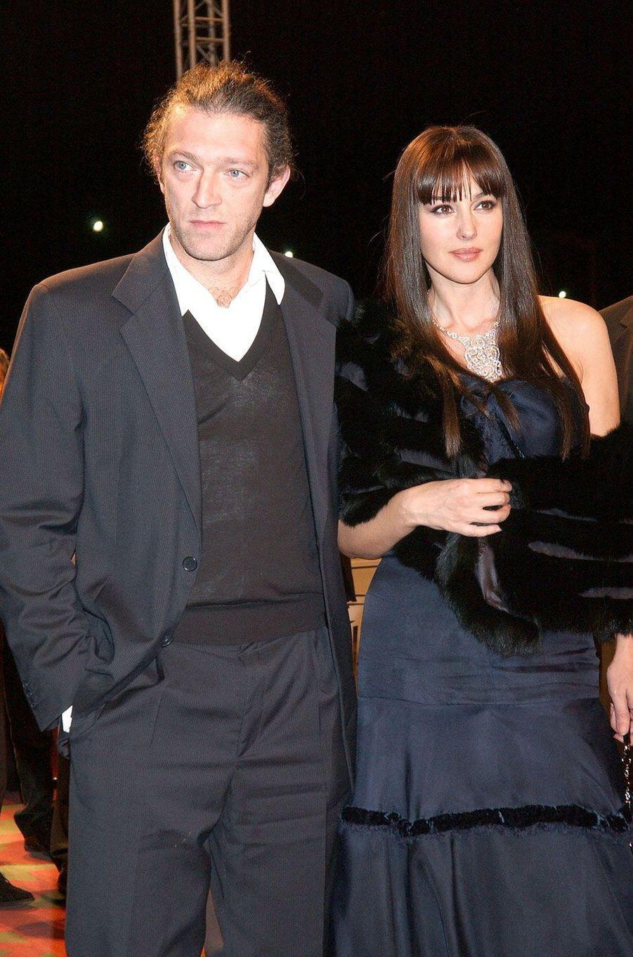Vincent Cassel et Monica Bellucci en 2005