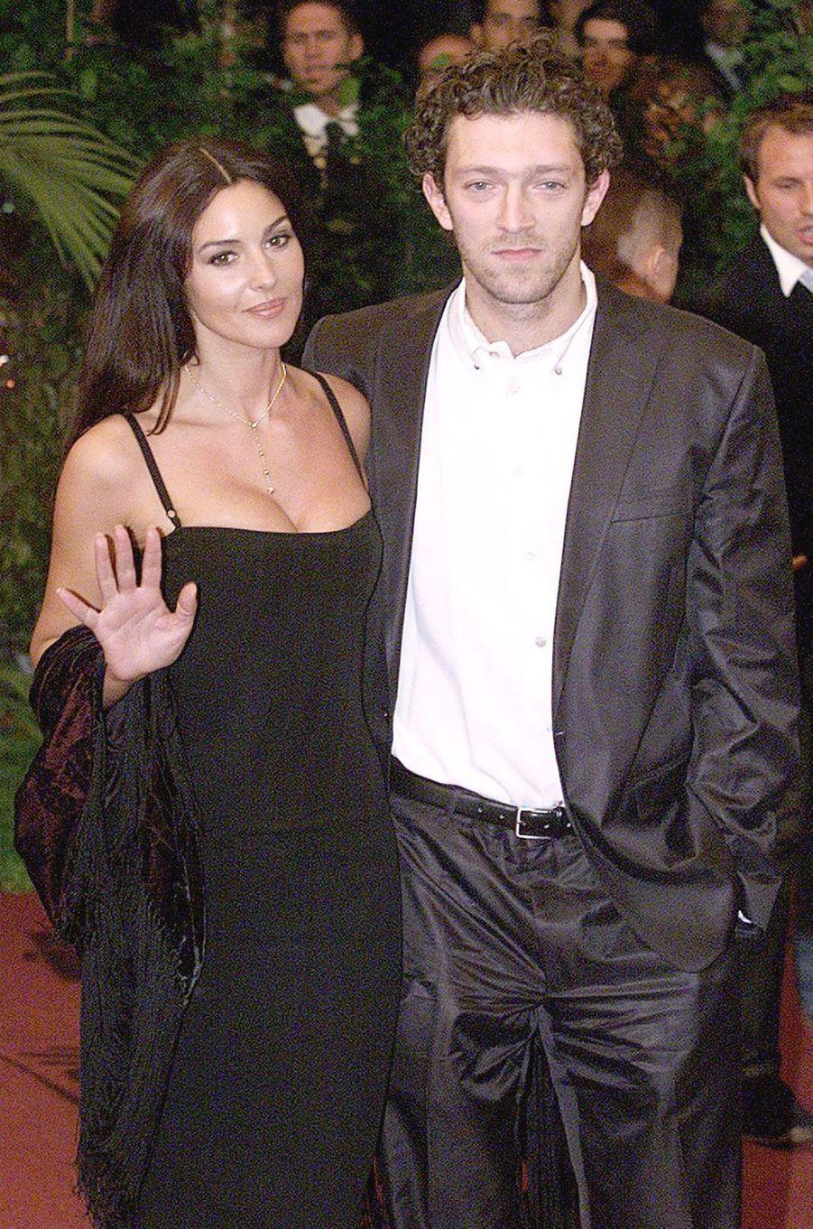 Vincent Cassel et Monica Bellucci en 2000
