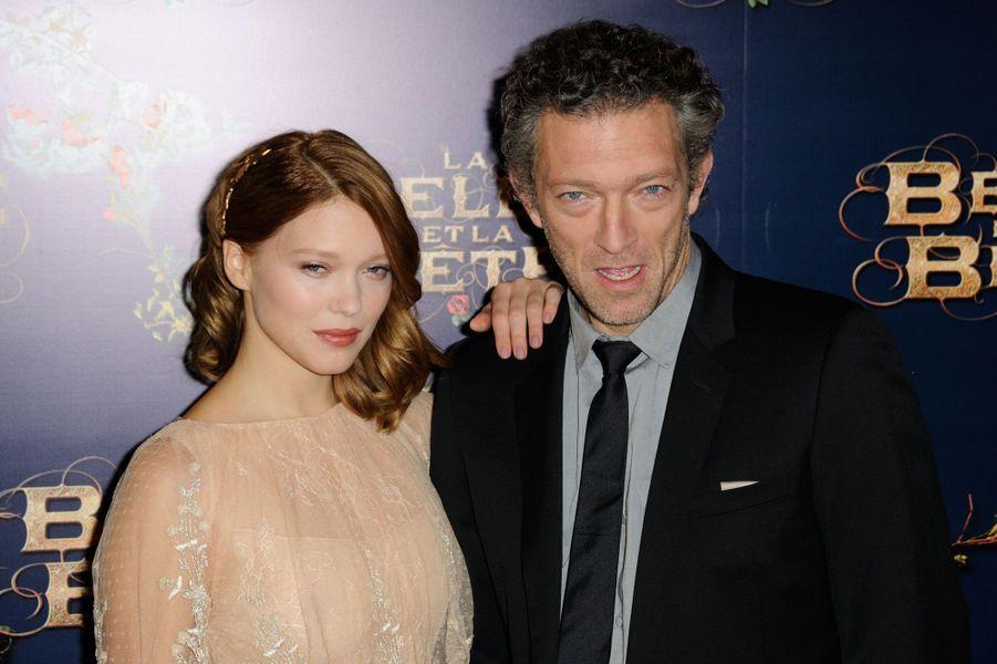 Vincent Cassel avec Léa Seydoux en 2014