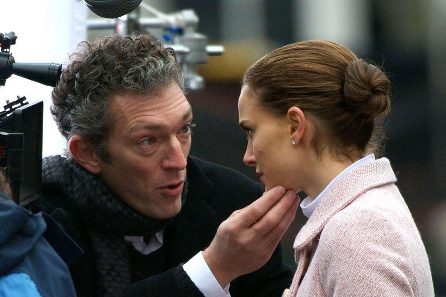 """Vincent Cassel en 2009, sur le tournage de """"Black Swan"""" avec Natalie Portman"""