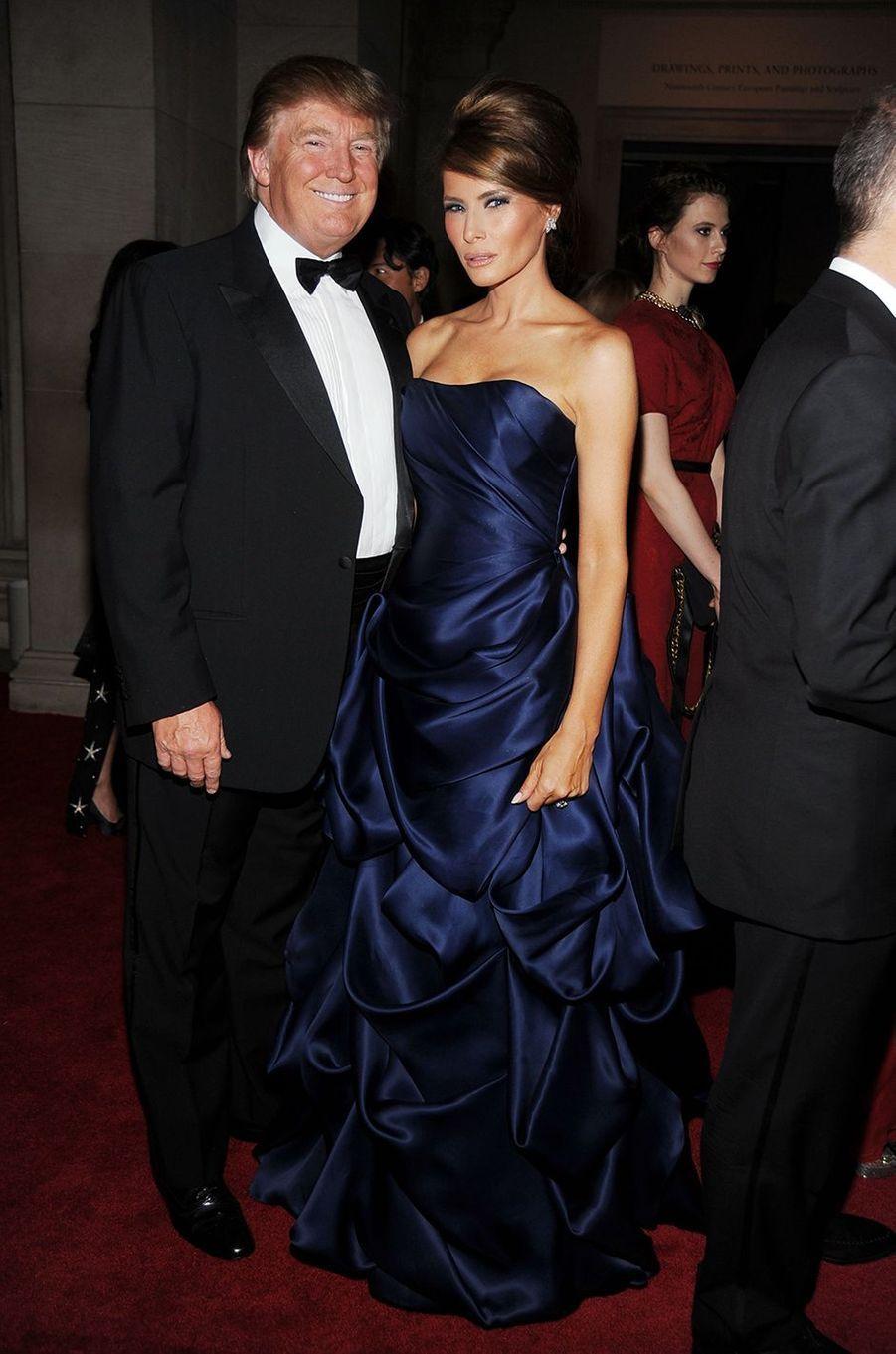 Donald et Melania Trumpau Met Gala à New York le 3 mai 2010