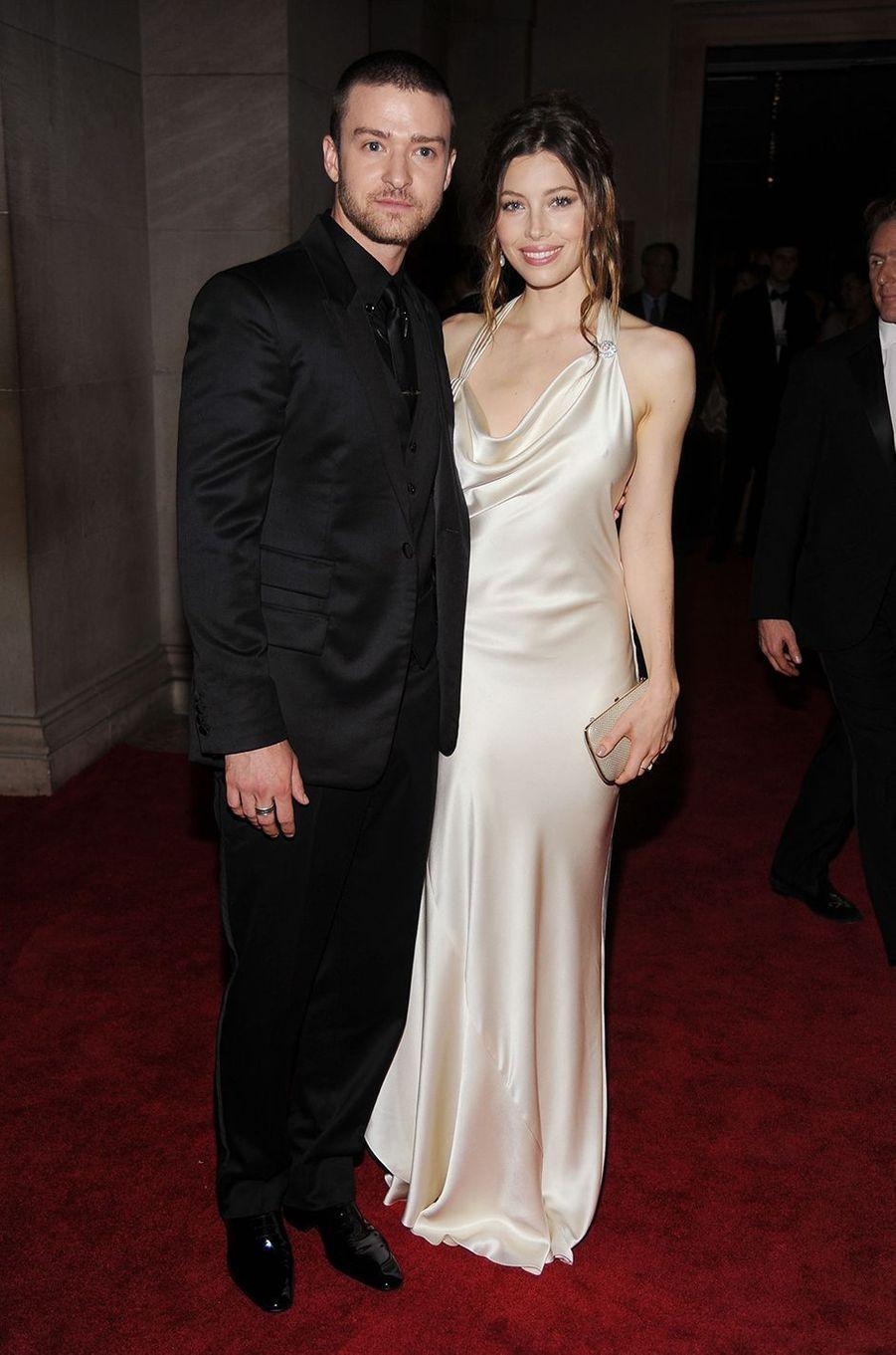 Justin Timberlake et Jessica Bielau Met Gala à New York le 3 mai 2010