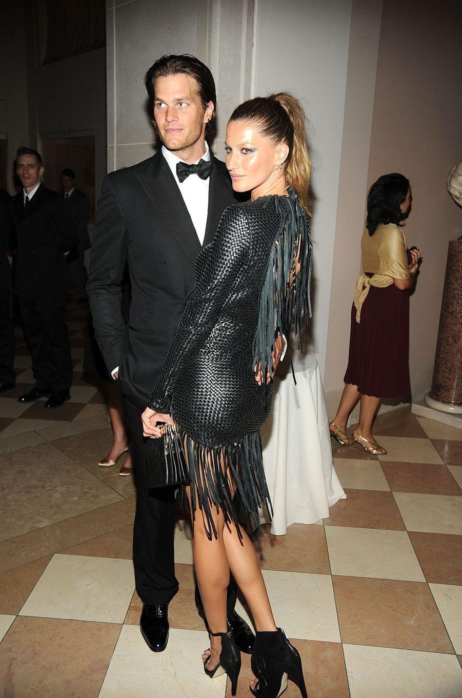 Tom Brady et Gisele Bündchenau Met Gala à New York le 3 mai 2010