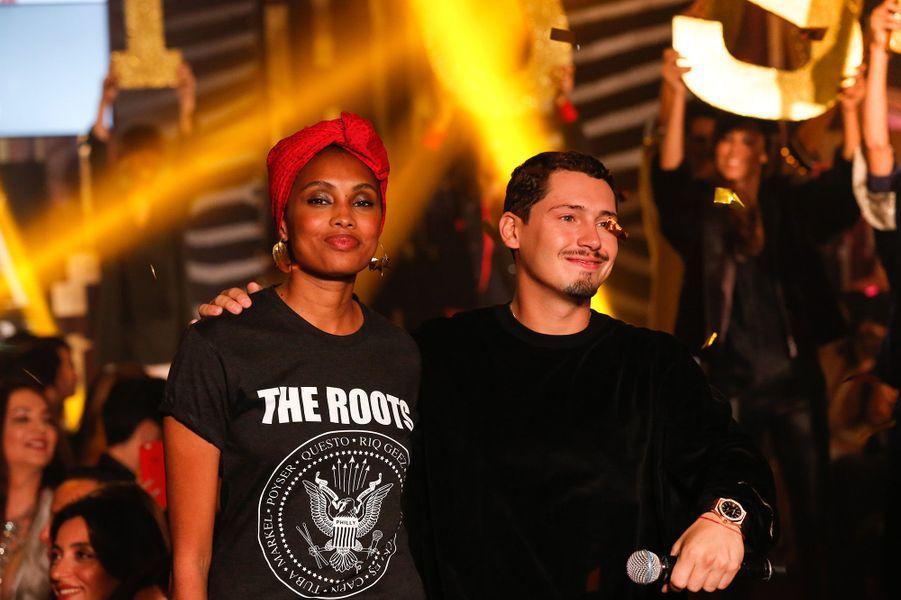 Imany et Cris Cab auCasa Fashion Show, le samedi 7 octobre 2017.