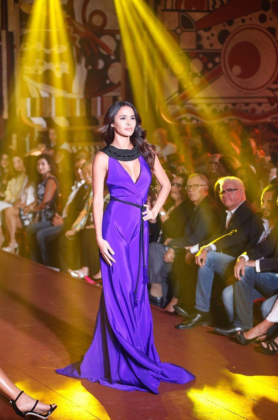 Leila Ben KhalifaauCasa Fashion Show, le samedi 7 octobre 2017.