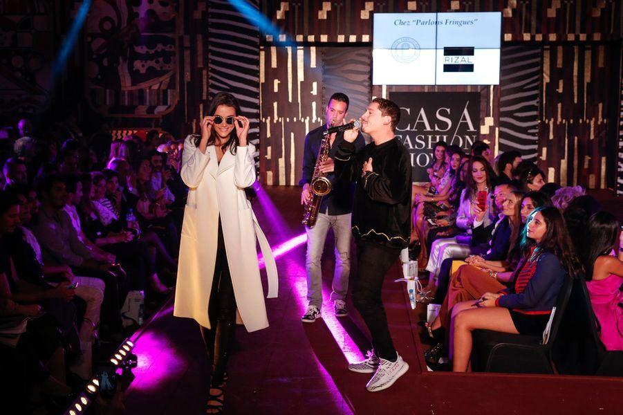 Le chanteur Cris CabauCasa Fashion Show, le samedi 7 octobre 2017.