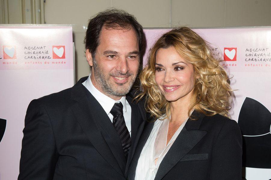 Ingrid Chauvin et son époux Thierry au Galadu coeur deMécénat Chirurgie cardiaque, à Paris le 30 janvier 2017.