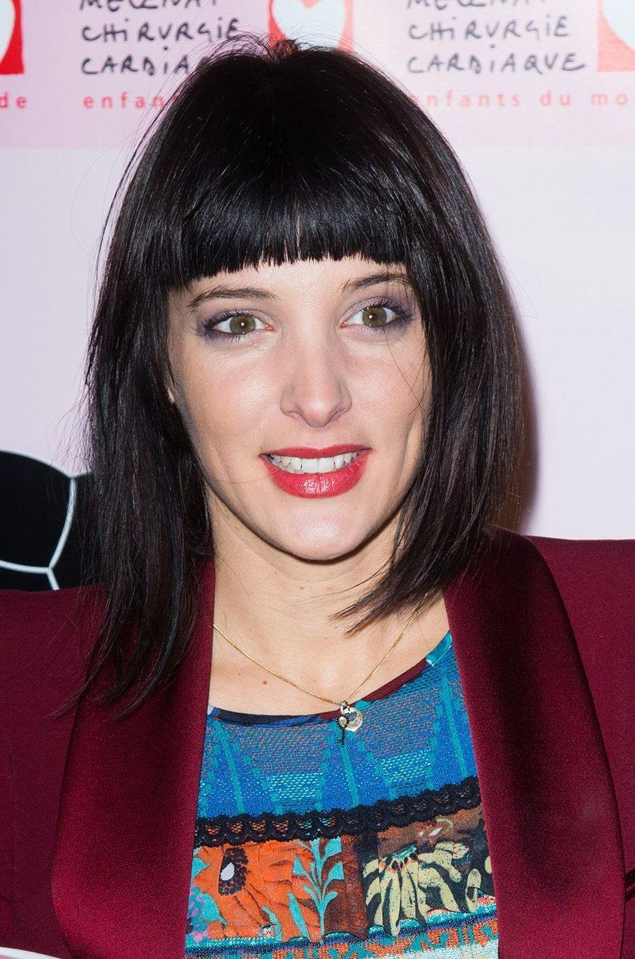 Erika Moulet auGaladu coeur deMécénat Chirurgie cardiaque, à Paris le 30 janvier 2017.