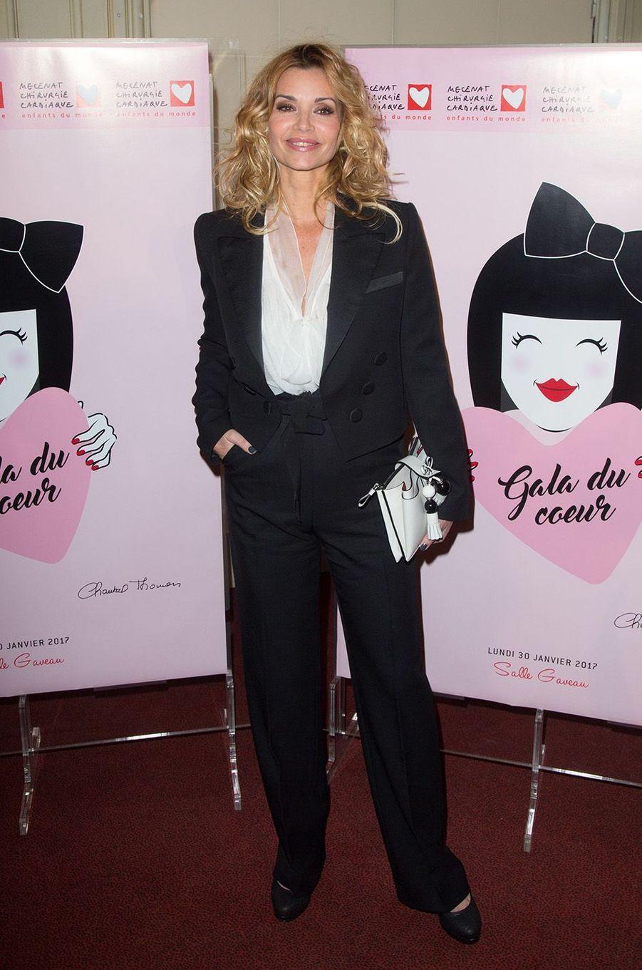Ingrid Chauvin auGaladu coeur deMécénat Chirurgie cardiaque, à Paris le 30 janvier 2017.