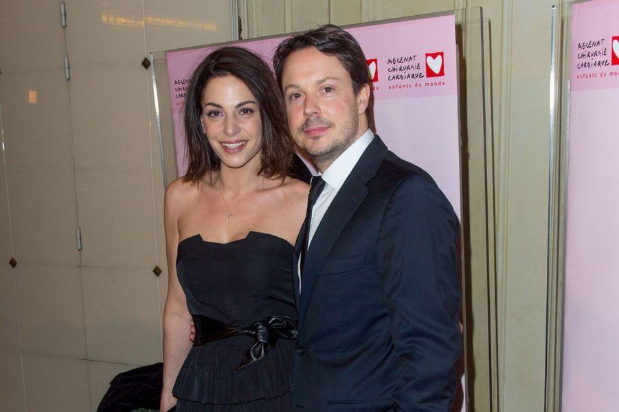 Davy Sardou et son épouse auGaladu coeur deMécénat Chirurgie cardiaque, à Paris le 30 janvier 2017.