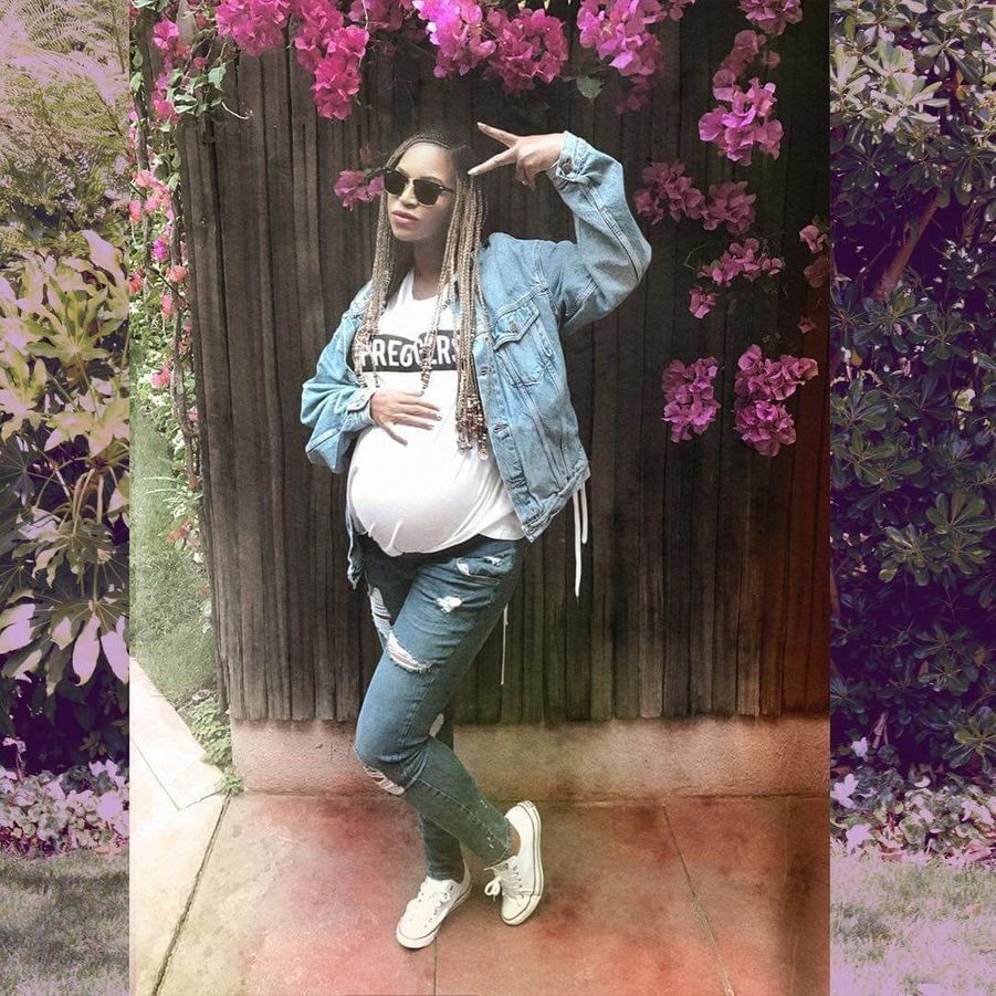 Beyoncé enceinte.