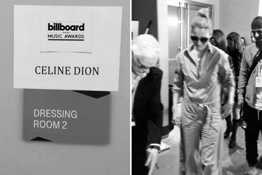 Céline Dion avant le soirée des Billboard Awards