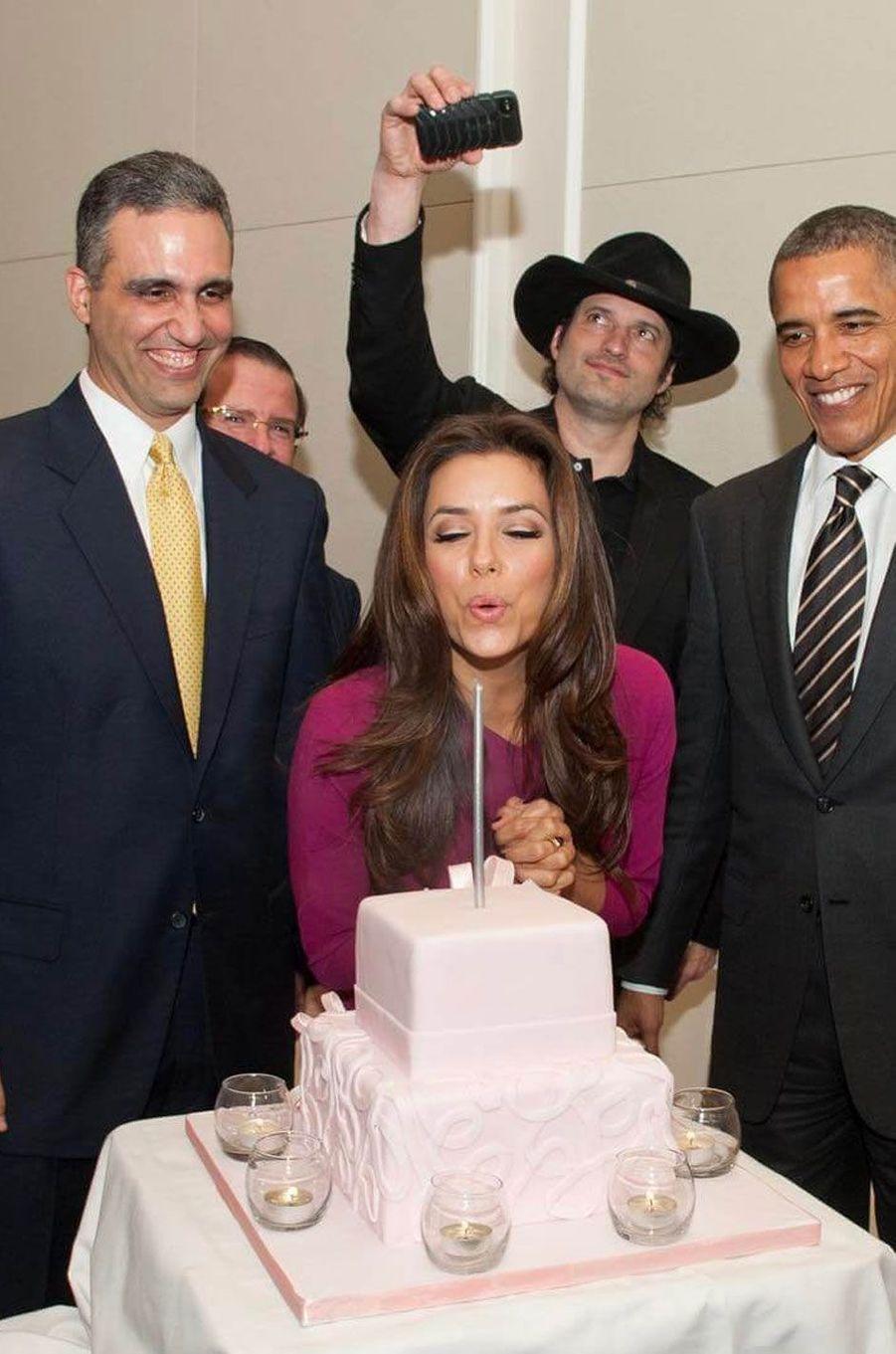 Avec Barack Obama.