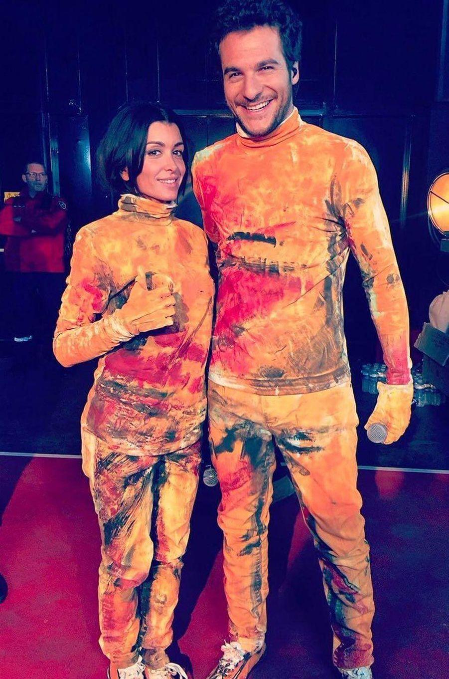 Jenifer et le chanteur Amir.
