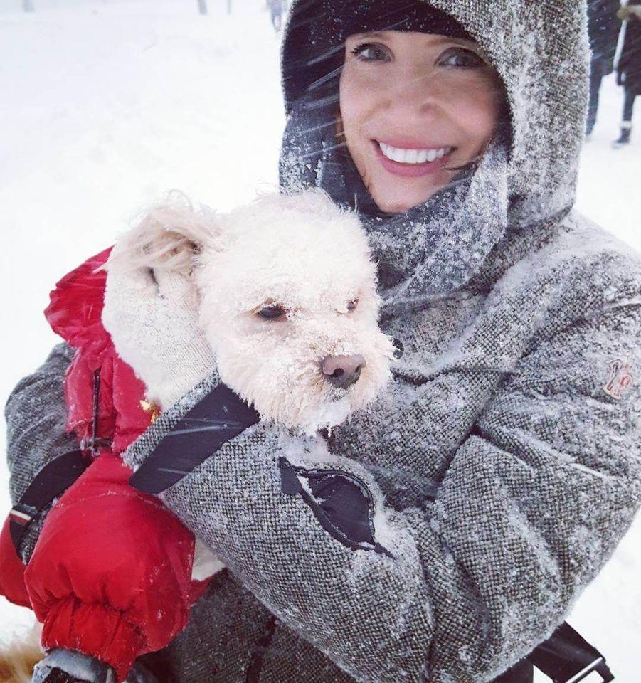 Jessica Chastain et son chien