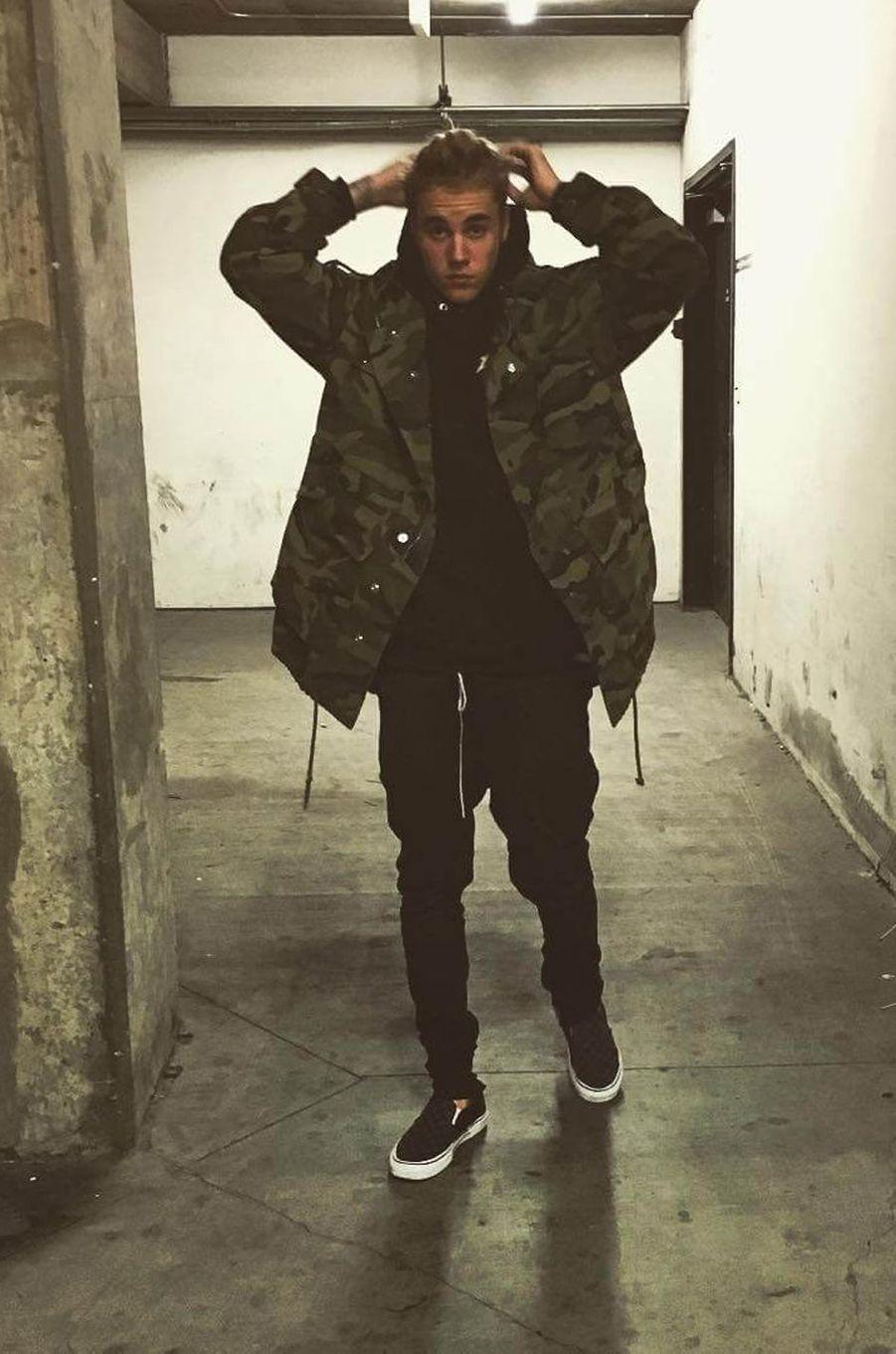 Justin Bieber, le 13 janvier 2016.