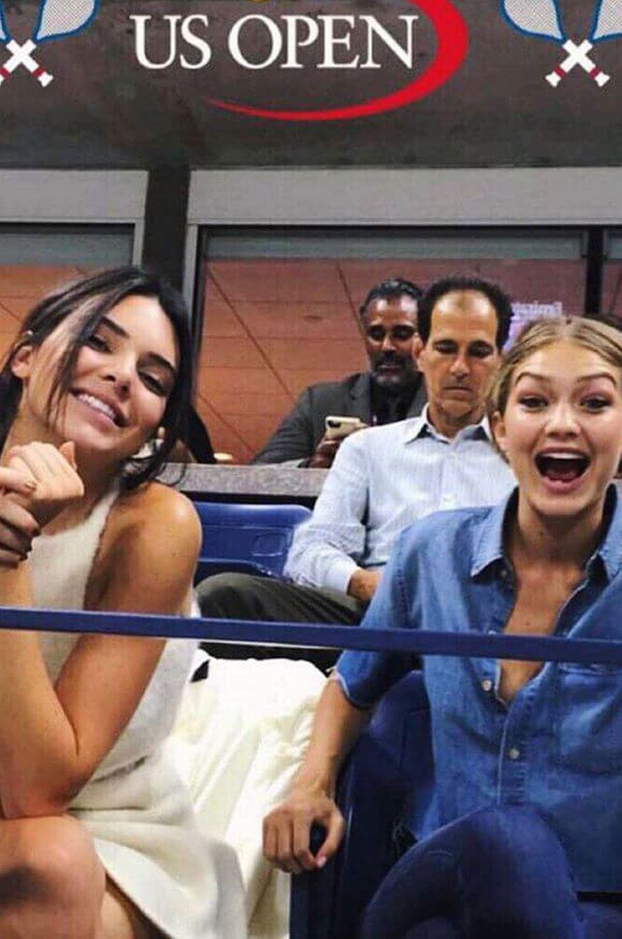 Kendall et Gigi à l'US Open.