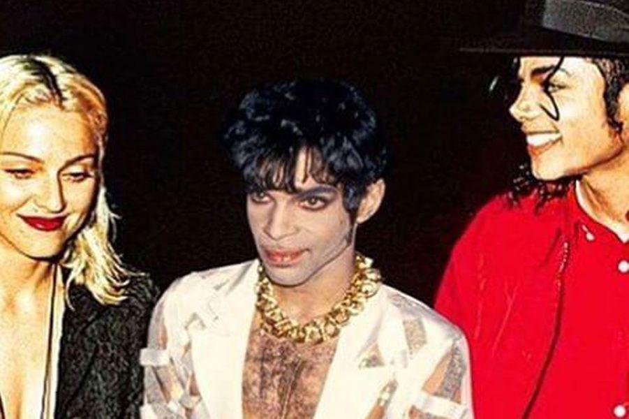 Madonna avec Prince et Michael Jackson.