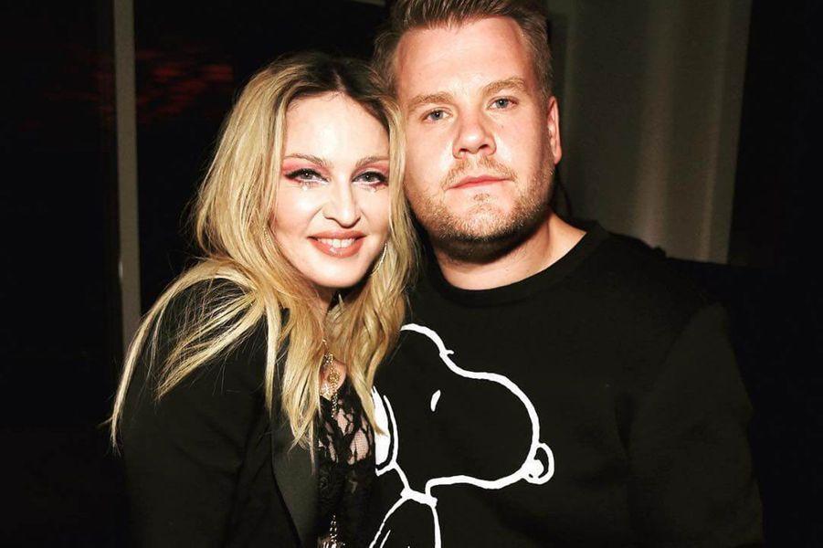 Madonna et James Corden.