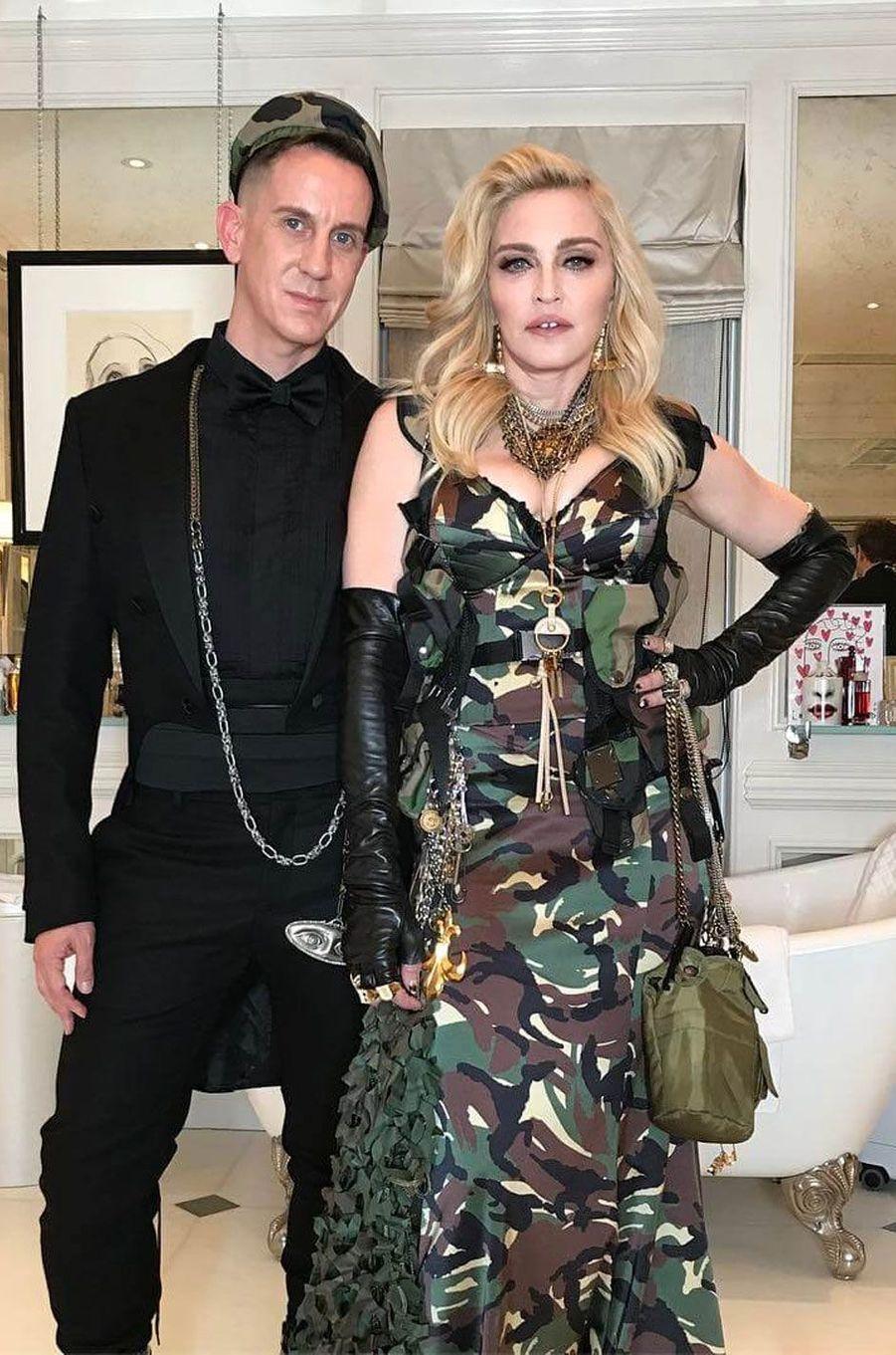 Jeremy Scott et Madonna avant le Met Gala 2017.