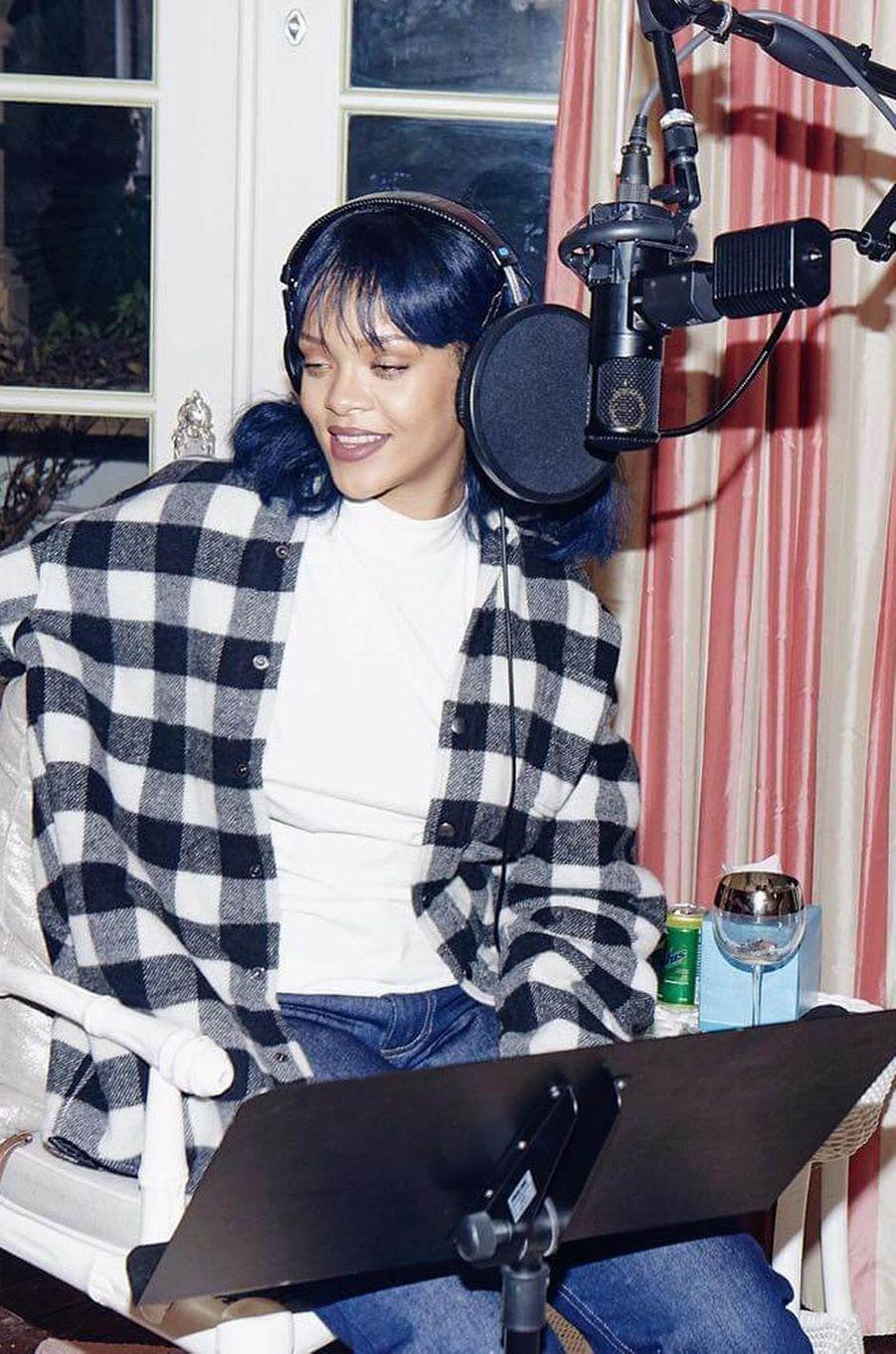 """Rihanna en enregistrement pour son dernier album """"ANTI"""""""