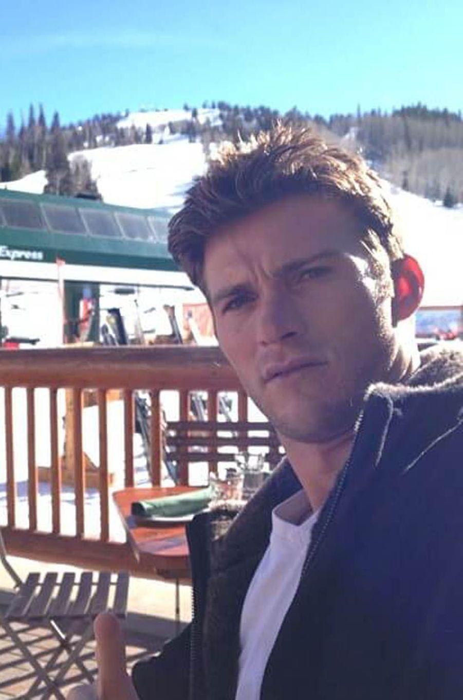 Scott Eastwood au ski, le 22 janvier 2014.