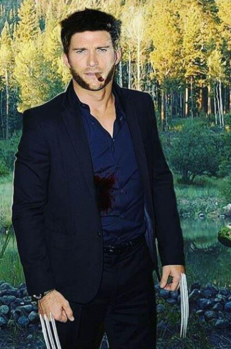 Scott Eastwood déguisé en Wolverine.