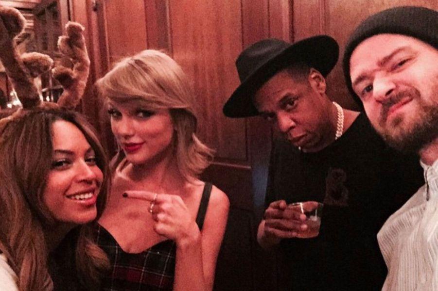 Taylor Swift avec Beyoncé, Jay Z et Justin Timberlake