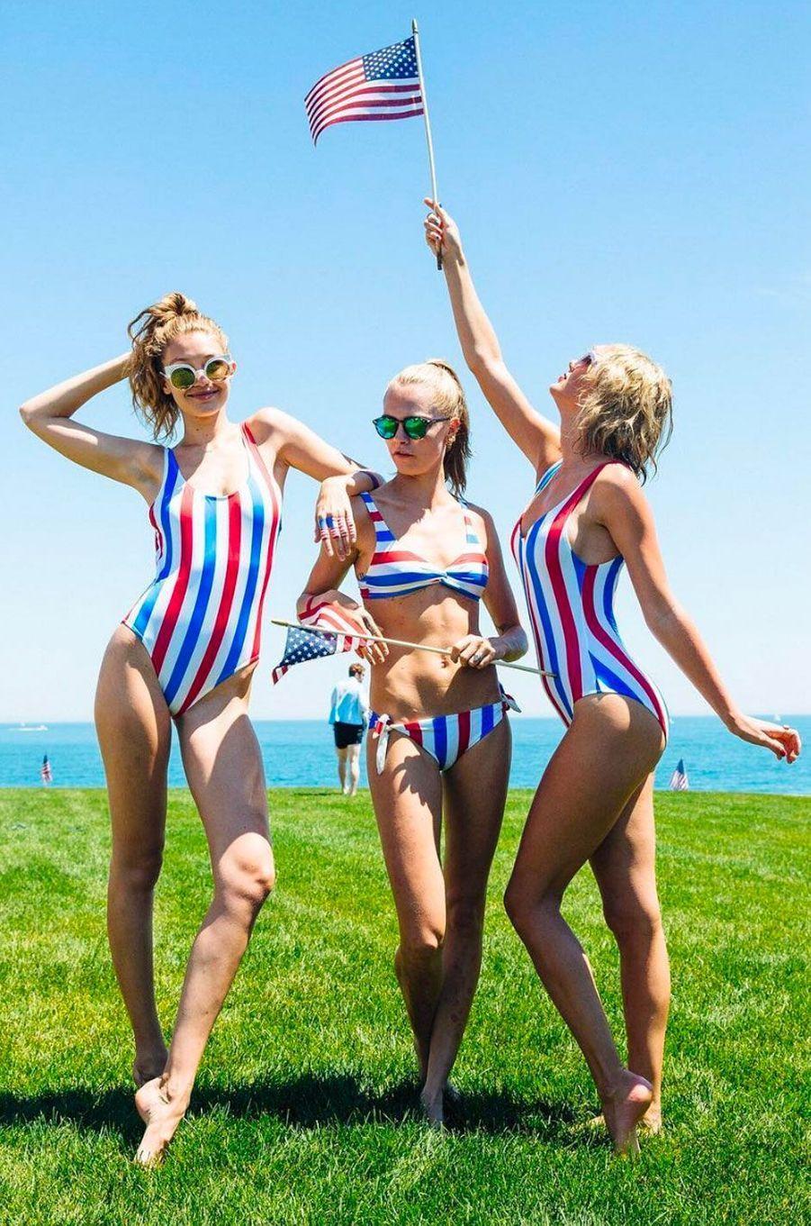 Taylor Swift avec Gigi Hadid et Cara Delevingne