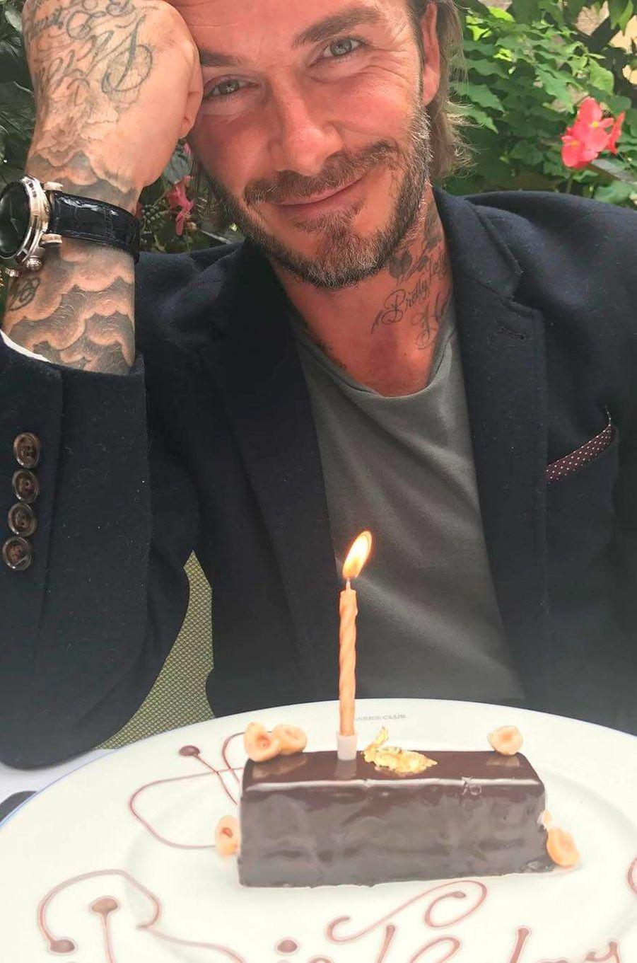 David Beckham, pris en photo parVictoria Beckham lors de son anniversaire