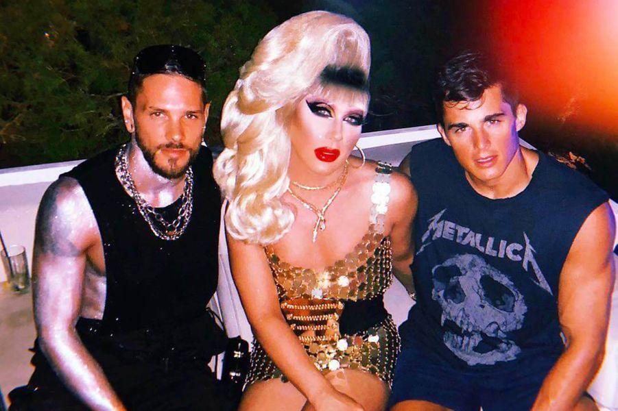 Alberto Brasola Barina,Jodie Harsh et Pietro Boselli à Ibiza