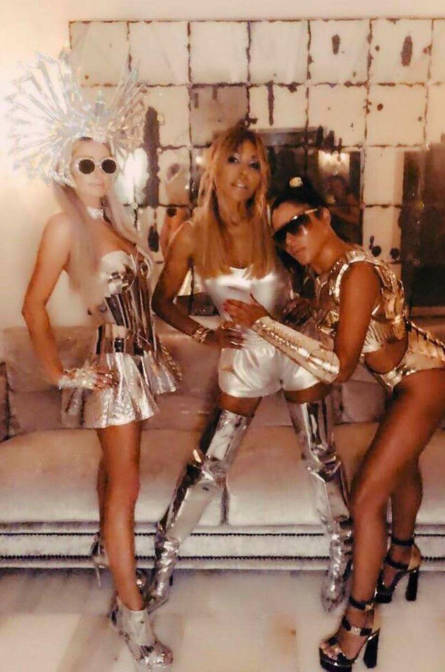 Marina Morena avec Paris Hilton et Cathy Guetta