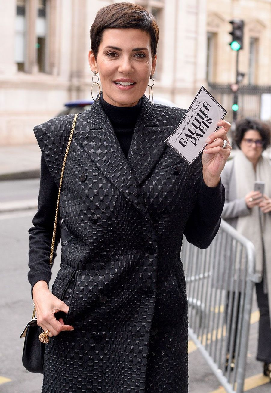 Cristina Cordulaau défilé Jean Paul Gaultier mercredi à Paris