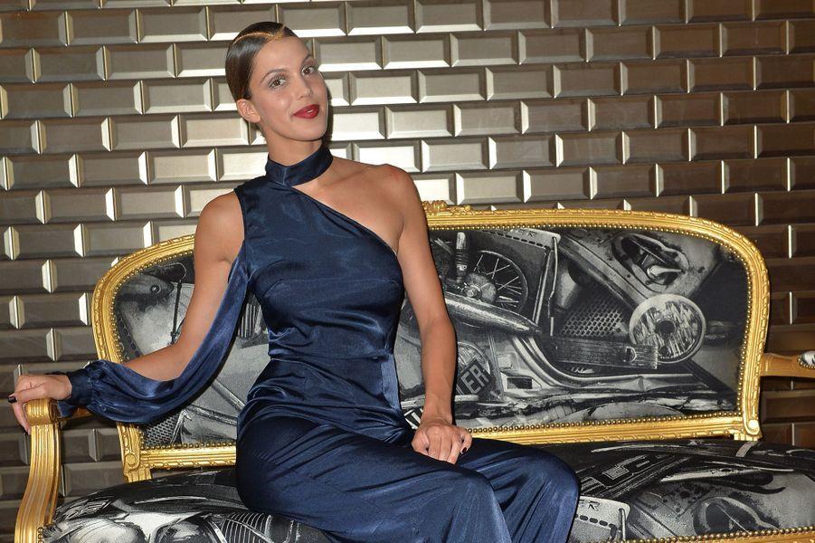 Iris Mittenaere, Miss Univers 2016, au défilé Jean-Paul Gaultier, le 5 juillet 2017.