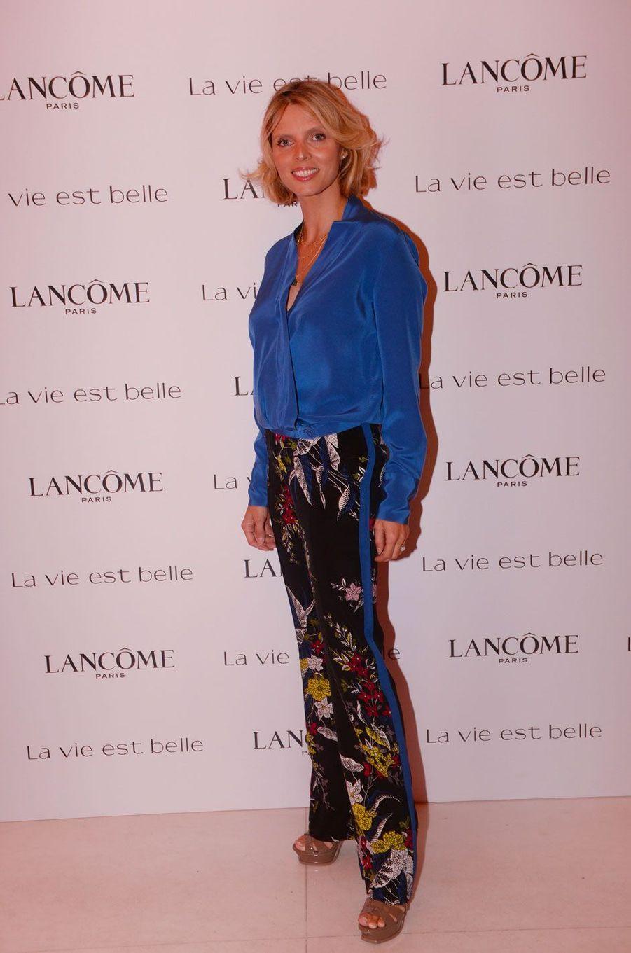 Sylvie Tellier à la soirée Lancôme, à Paris le 12 septembre 2018
