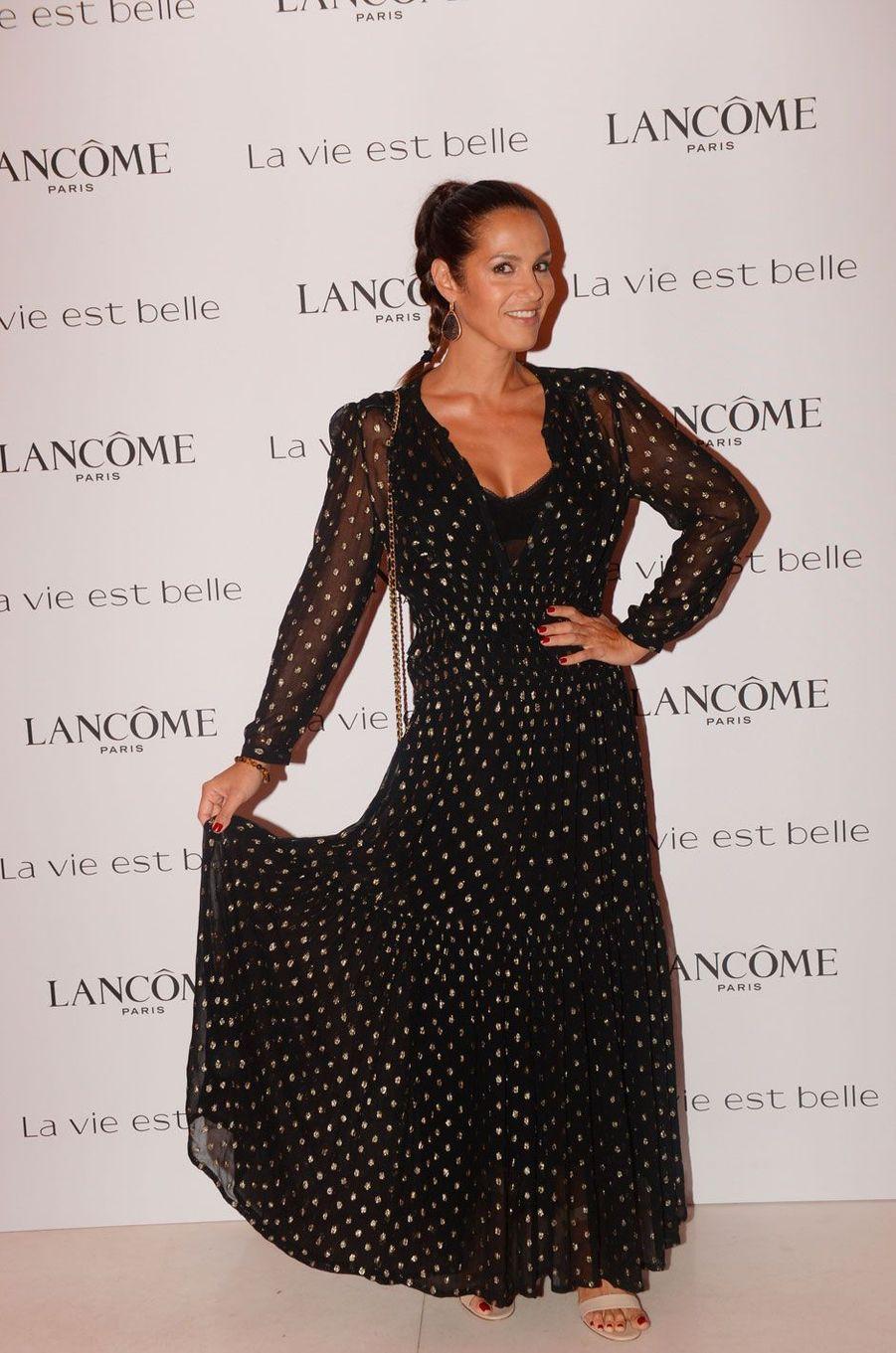 Elisa Tovati à la soirée Lancôme, à Paris le 12 septembre 2018